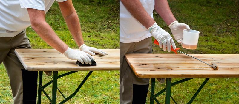 Mezi jednotlivými vrstvami dřevo přebrušte